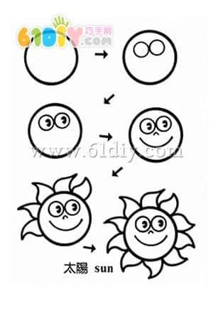 幼儿幼儿园手工太阳简笔画
