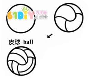 球的简笔画_简笔画足球的画法