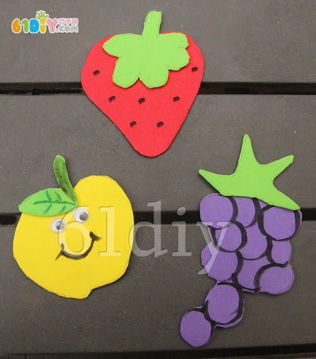海绵纸水果手工图片