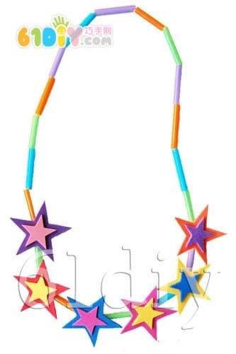 妈妈的礼物:星星项链手工