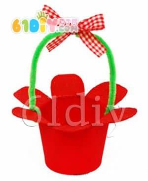 首页 环保手工 纸杯手工  母亲节用纸杯做一个小花篮,装上可爱的糖果