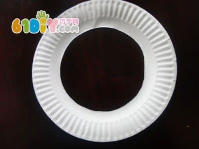 纸盘手工制作花环