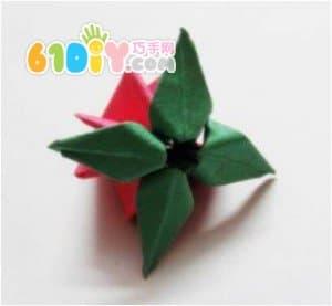 立体水果折纸——草莓