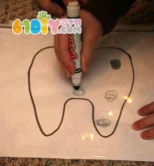 爱护牙齿的手工