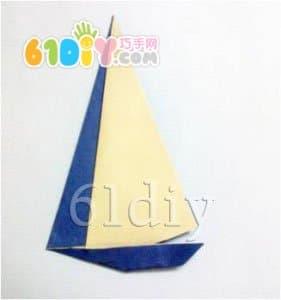帆船折纸图解_船折纸_巧巧手幼儿手工网