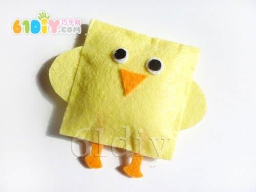 不织布小动物手工——小鸡