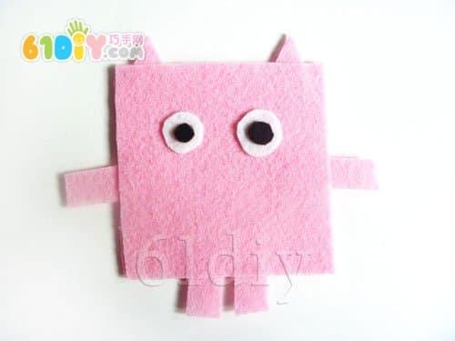 不织布小动物手工——小猪