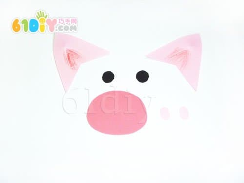 动物扇子手工制作——小猪