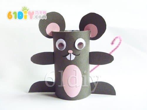 卷纸芯手工制作小老鼠