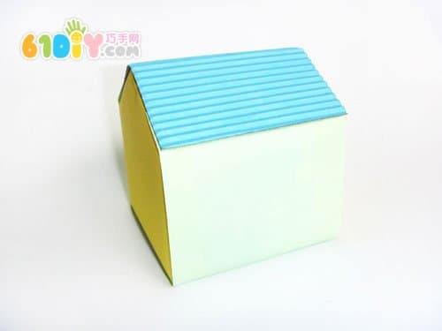 牛奶盒别墅手工制作_纸盒手工_巧巧手幼儿手工网