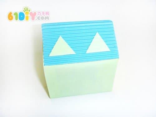 牛奶盒别墅手工制作_纸盒手工