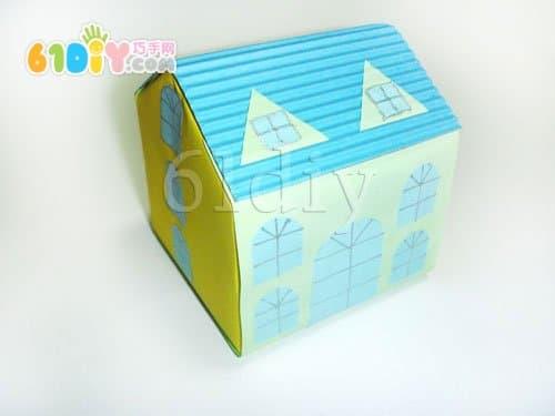 牛奶盒手工制作小房子