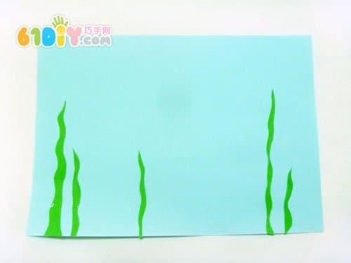 卷纸 芯小鱼 贴画手工 海底世界 纸筒 手工 巧巧