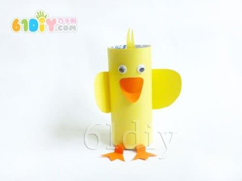 卷纸芯手工制作小鸭子
