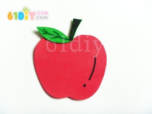 海绵纸水果贴画