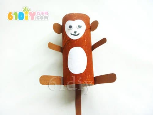 卷纸芯手工制作小猴子