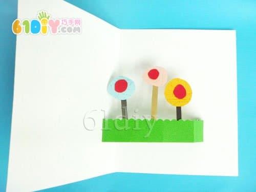 花朵教师节卡片制作方法_精彩贴画_巧巧手幼儿手工网