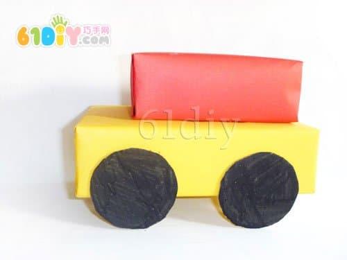 大纸盒制作小汽车图片 手工制作纸盒做小汽车,纸盒制作小汽高清图片