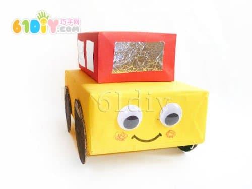 用纸盒自制小汽车图片