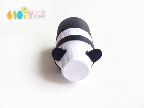 养乐多瓶子制作熊猫
