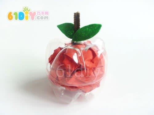 饮料瓶子手工制作苹果