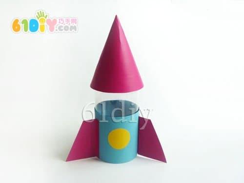 饮料瓶手工制作火箭