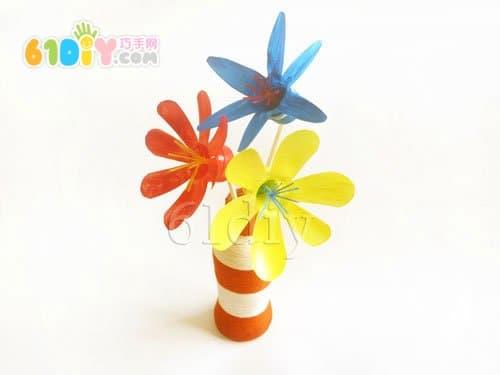 饮料瓶手工制作漂亮的花朵