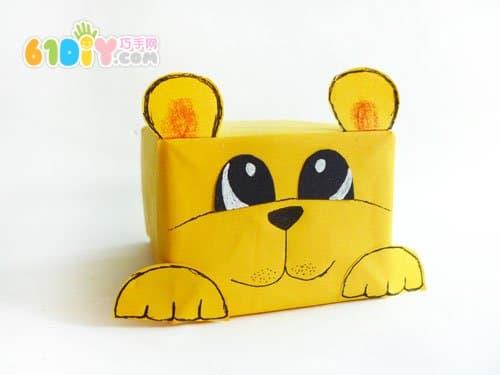 幼儿纸壳手工制作狮子