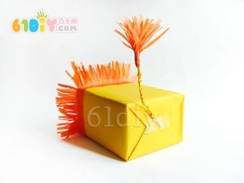 纸盒手工制作小狮子