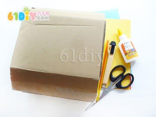 废纸盒手工制作城堡内容|废纸盒手工制作城堡版面设计