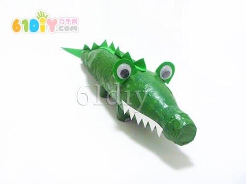 饮料瓶手工制作大鳄鱼