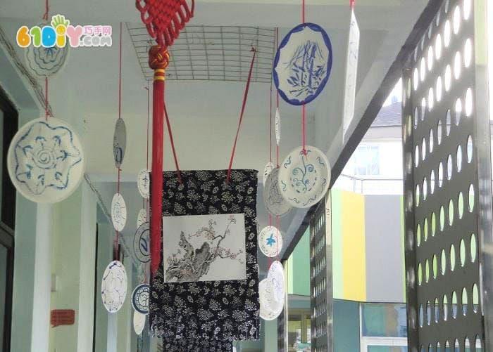 幼儿园中国风主题墙_精彩贴画