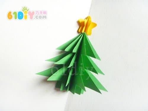 手工製作立體聖誕樹_聖誕節立體手工製作_手工製作 ...