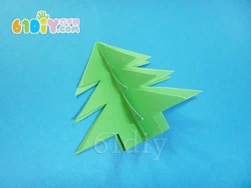 怎样制作立体圣诞树卡