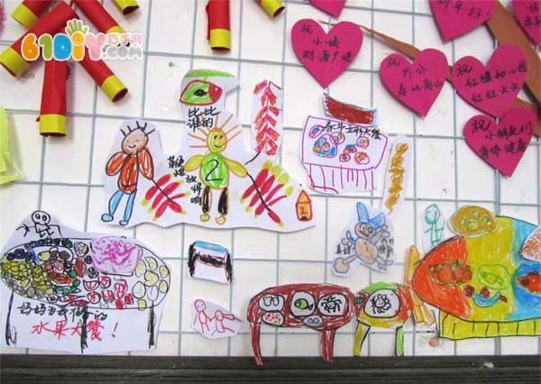 幼儿园新年主题墙