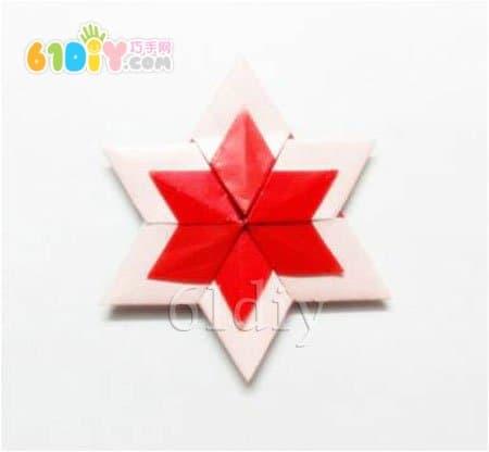 圣诞节星星折纸教程