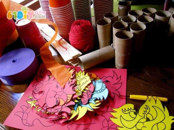玩具纸杯龙手工制作