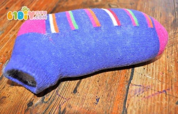 袜子制作小马木偶玩具