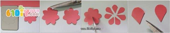 海绵纸玫瑰花制作图解