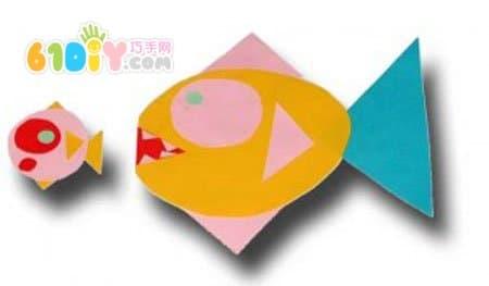 儿童图形拼贴手工鱼