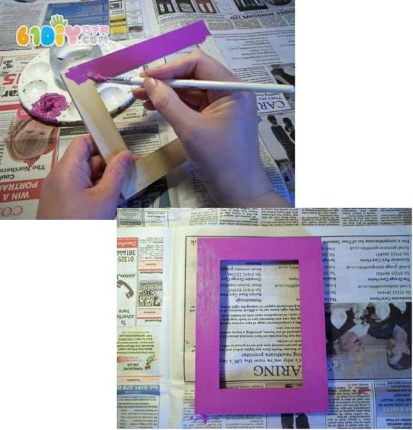 海绵纸制作马赛克装饰画