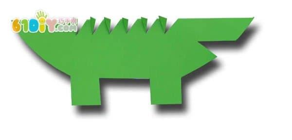 儿童手工制作立体小鳄鱼