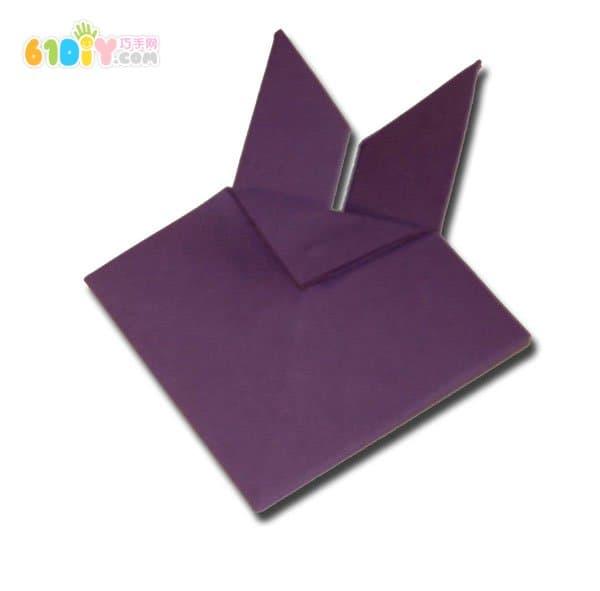 小兔子头折纸