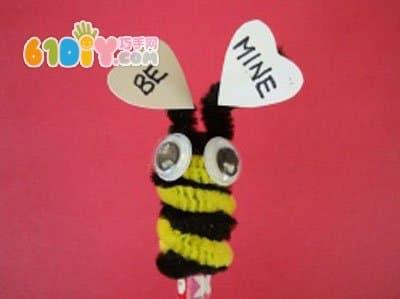 小蜜蜂卡纸剪贴画