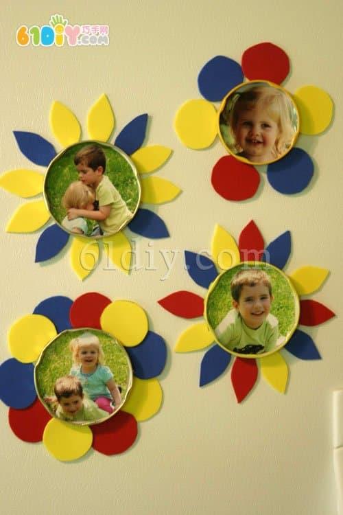 花朵照片冰箱贴手工制作