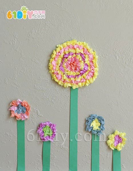 幼儿园母亲节小制作:搓纸花