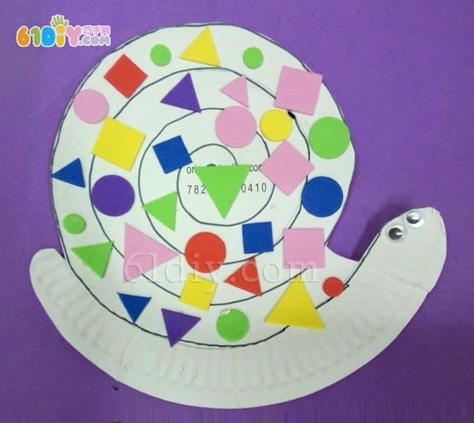 儿童手工diy纸盘蜗牛
