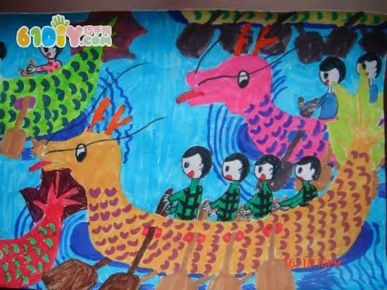 小朋友画端午节_快乐涂鸦_巧巧手幼儿手工网图片
