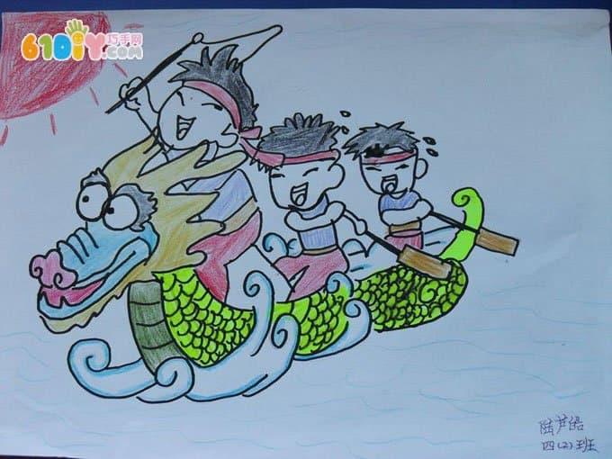 小朋友画端午节(2)_快乐涂鸦_巧巧手幼儿手工网图片