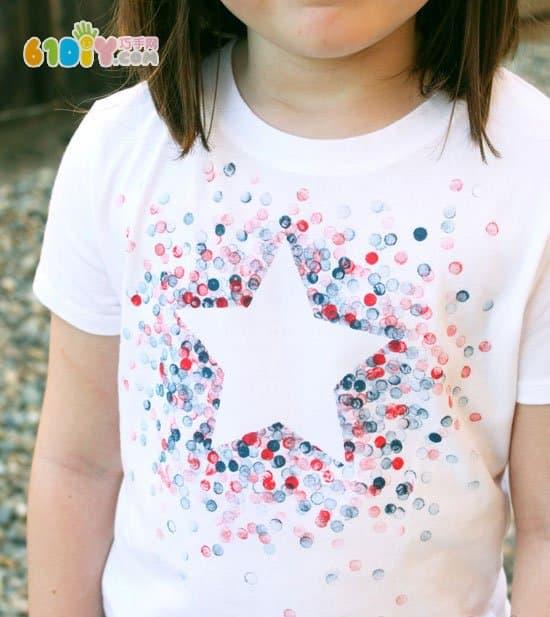 橡皮头铅笔手工——自制星星t恤